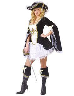 Sexy Musketier Kostüm schwarz - Artikelnummer: 508560000 - ab 54.99EURO - bei Karneval-Megastore.de!