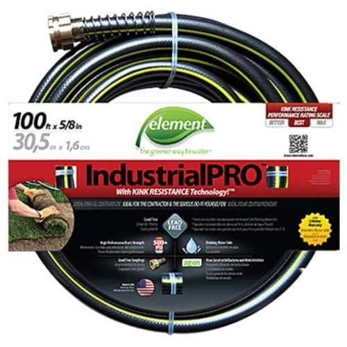 Element ELIH58100 Industrial Pro Garden Hose, 5/8 x 100'