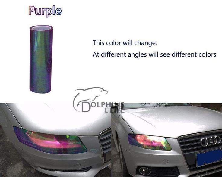 Purple Chameleon wrap. Headlights on in daylight. Testing it on my fog lights...if I love, I'll wrap all my lights :)