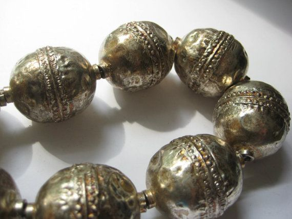 5 Large Ethiopian round metal beads by xclusivedsgns on Etsy, $15.00