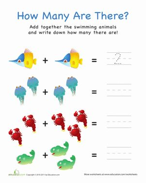 How Many Are There? Fish Math, Science and Preschool math