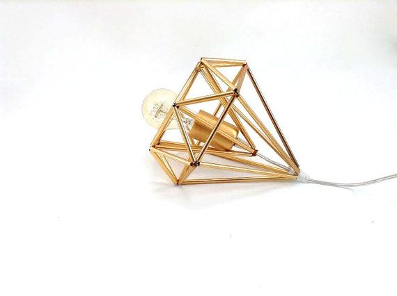 Himmeli light Cage table lamp industrial metal minimal table lamp light geometric minimal gold