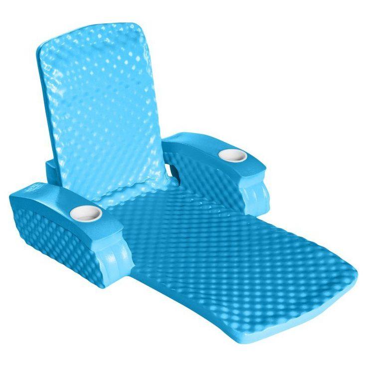TRC Recreation Baja II Folding Foam Pool Float Lounge Aquamarine - 6570128