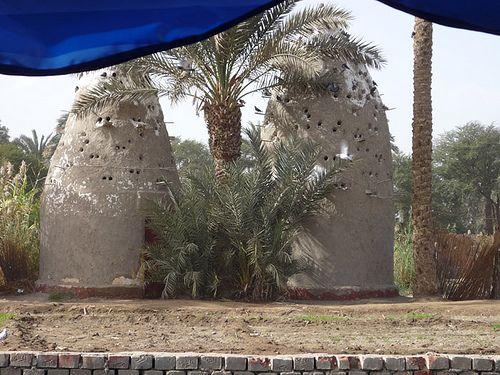 CAIRO, EGYPT - Pharaonic Village - pigeon houses (dovecotes)/ КАИР, ЕГИПЕТ - парк Фараоник-Виллэдж - голубятни