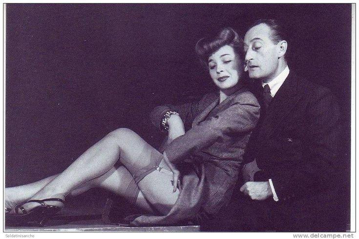 Isa Barzizza and Italian revue and comedy star Antonio De Curtis (aka Totò).