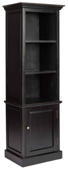 MH: шкаф книжный [003385] (чёрный) {ш65 в200 г48}