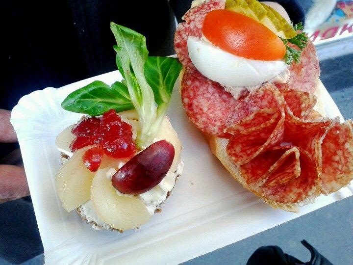 Czech open sandwiches