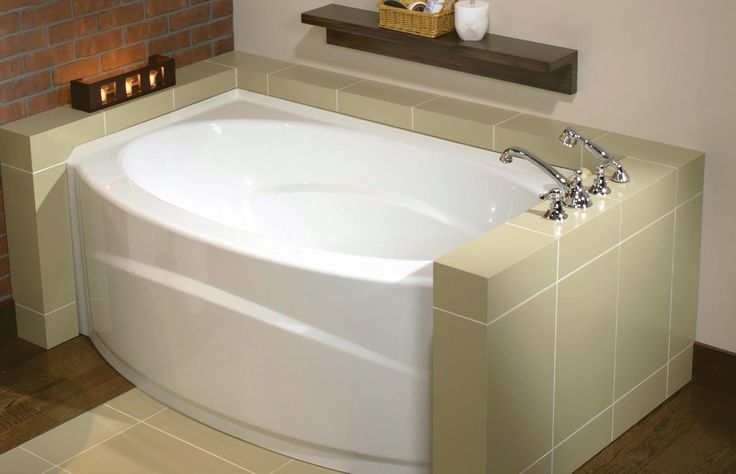 Islander alcove bathtub maax professional salle de for Alcove bathtub dimensions