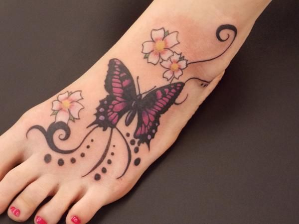Butterfly on the foot - 50+ Amazing Butterfly Tattoo Designs  <3 !