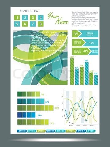 Stock vector of 'Blue and green technological banner with Information Graphics  Vector illustration'