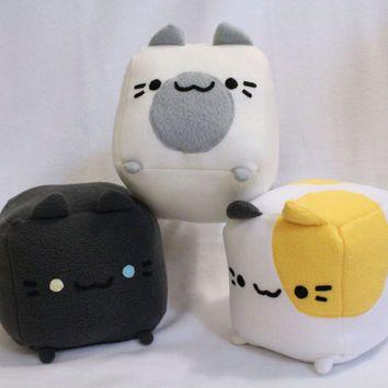 Neko Atsume Plush Toy, Cat Pillow, Plushie, Stuffed Toy, Cat Plush Toy, Cat Cube