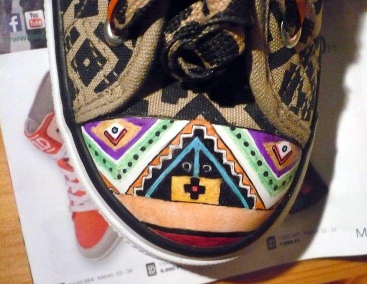 Aztec shoes WIP
