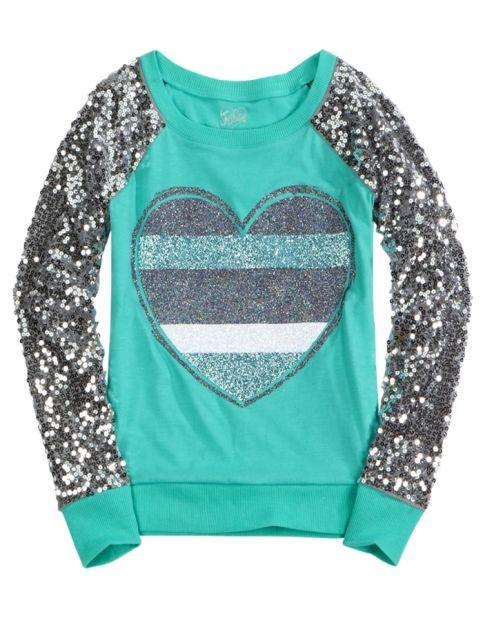 6f4cce894cb0 Sequin Sleeve Knit Sweatshirt