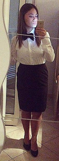Selfie Dressed In Her New Work Uniform | Karla | Flickr