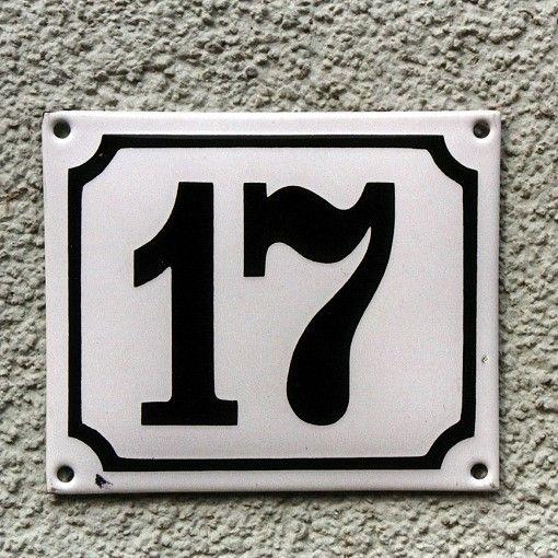 Emaille-Hausnummer