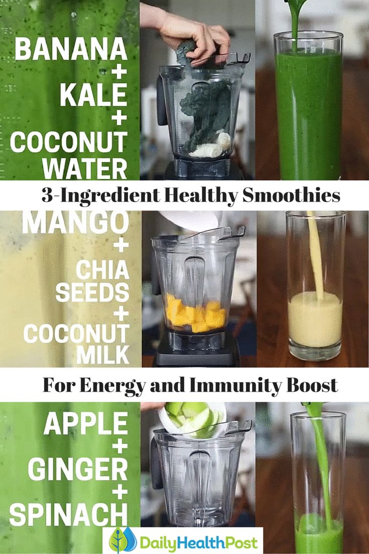 3-Ingredient Smoothies For More Energy and a Supercharged Immunity Boost #healthy#smoothie
