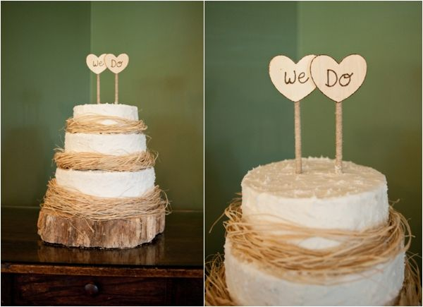 Rustic Wedding Cake, Heart Shaped We Do Cake Toppers, Sweet Country  Sunflower Wedding, Blue And Yellow Wedding Ideas, Britt Croft Photography