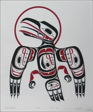 Wayne Edenshaw. Raven. Alaskan Native Art