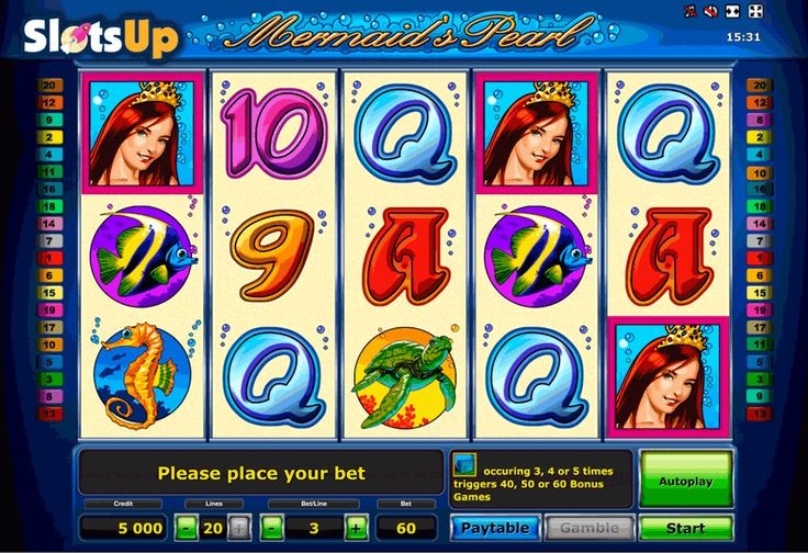 Beauty in the water, angel on the beach! It's all about Mermaid's Pearl Deluxe slot machine powered by Novomatic. Brief feature explanation: Mermaid herself is a Wild symbol replacing all symbols except for Scatters. Match underwater Treasure Chests, Scatter symbols, and win up to 60 Free Spins. Good luck!