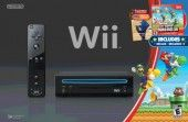 Wii Black Console with New Super Mario Brothers Wii and Music CD $215.00