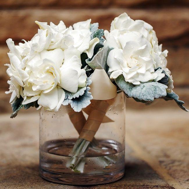 White Gardenia Bouquets // Nadia D. Photography // Jackson Durham Flowers // http://www.theknot.com/weddings/album/an-elegant-traditional-wedding-in-atlanta-ga-137922