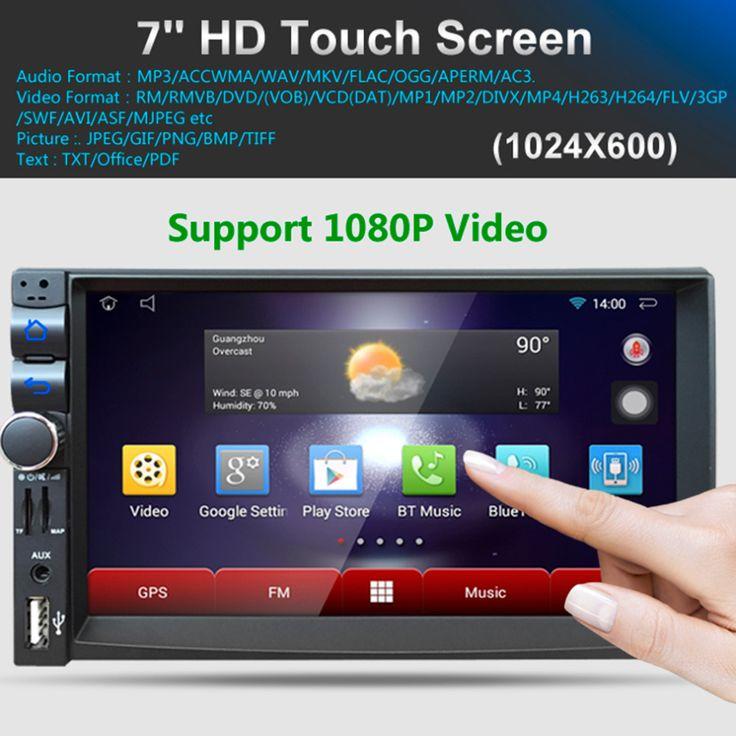 2017 Mobil DVD Player GPS 1028*600 HD Layar Sentuh Kapasitif Radio Stereo 8G/16G iNAND Rear View Kamera Parkir Android 4.4.4