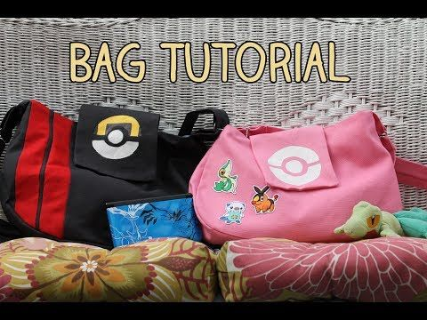 Pokemon Trainer/Messenger Bag Tutorial - YouTube