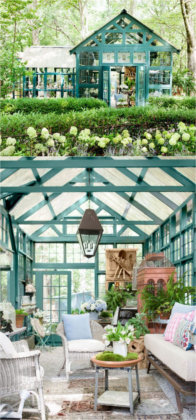 12 Most Beautiful DIY She Shed And Greenhouse Ideas With Reclaimed Windows  | Backyard Office, Backyard And Window