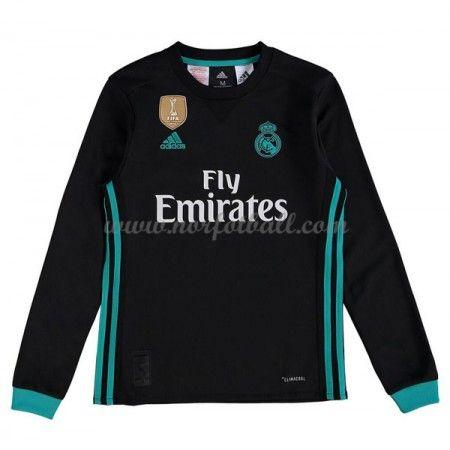 Billige Fotballdrakter Real Madrid Barn 2017-18 Borte Draktsett Fotball Langermet