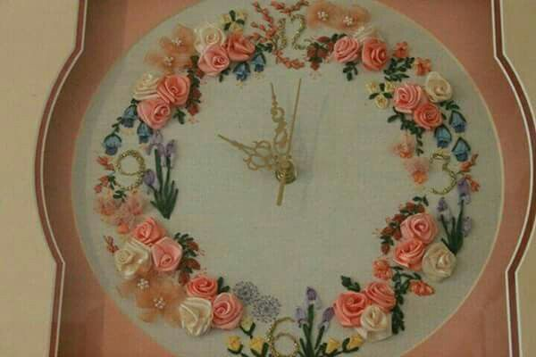 For my daughter Juanita an embroidered clock