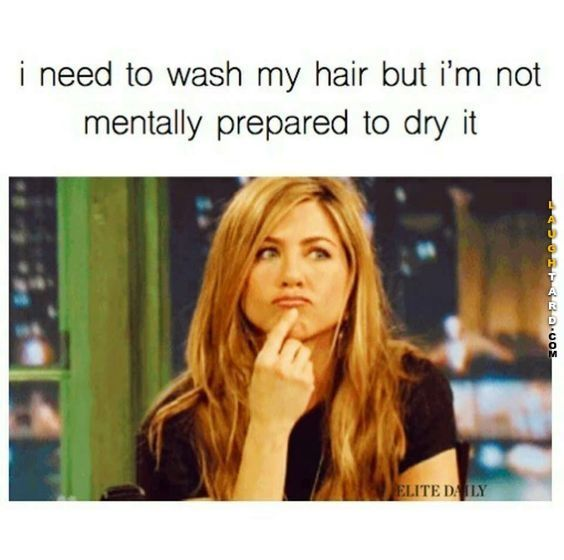 Every day. I wish I had people to dry it for me. Maybe do my make up. Basically I want to be a Bravolebrity.