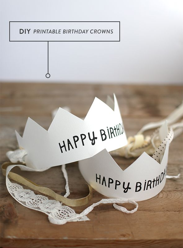 Imprimibles gratis de coronas de cumpleaños >> Printable Happy Birthday Crowns