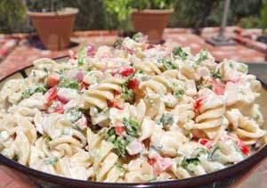 Gluten-Free Italian Macaroni Salad | A slightly sweet, yet sugar-free, #glutenfree macaroni #salad with an Italian flair... @GlutenFreeRecipeBox.com