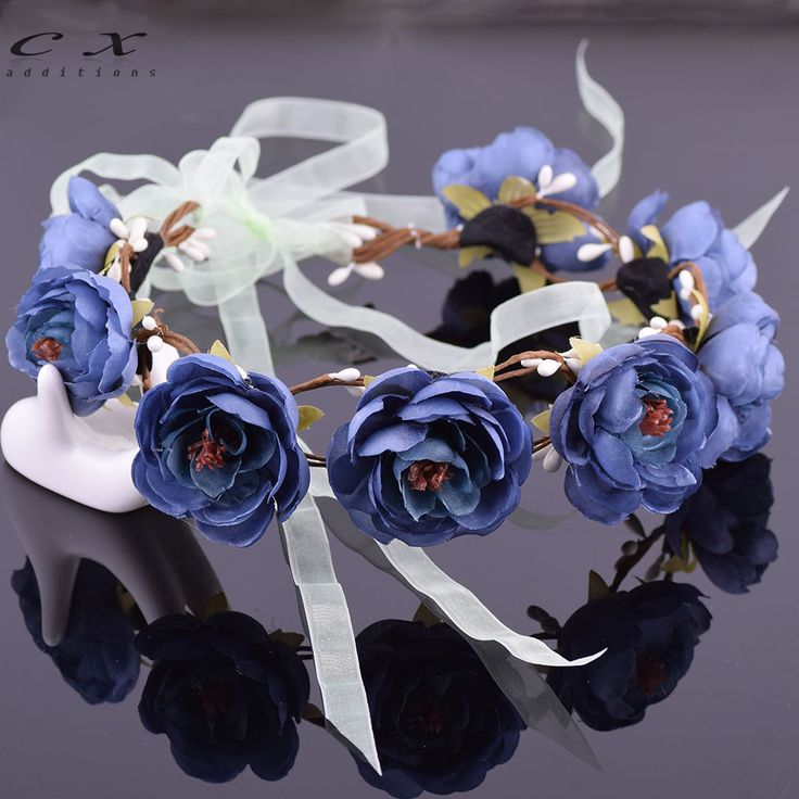 Bridal Floral Adjustable Crown Hair Wreath Babys Breath Camellia Flower Simple Halo Woodland Hairpiece Natural Wedding Rustic