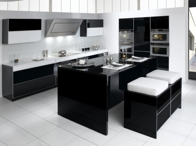 cuisine design noire blanche teissa cuisine kitchen pinterest cuisine design cuisine. Black Bedroom Furniture Sets. Home Design Ideas
