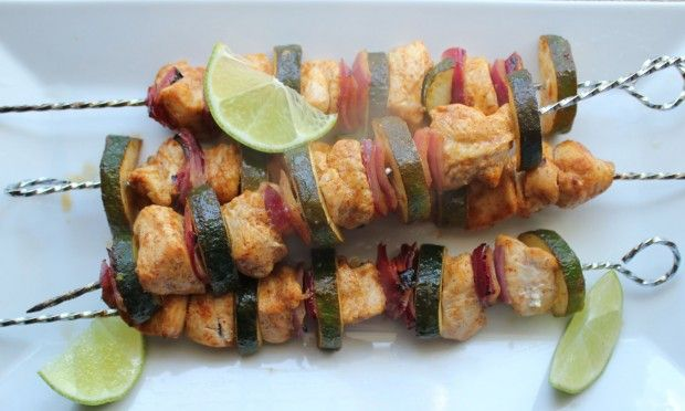 Chili Lime No Tequila Chicken Kabobs