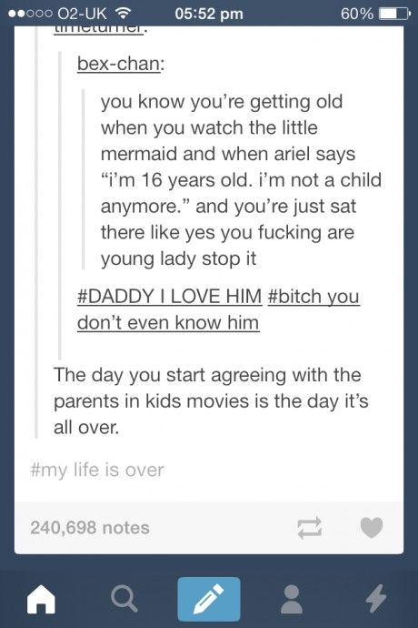 Yep. Ariel, you're a BABY. Get over it.