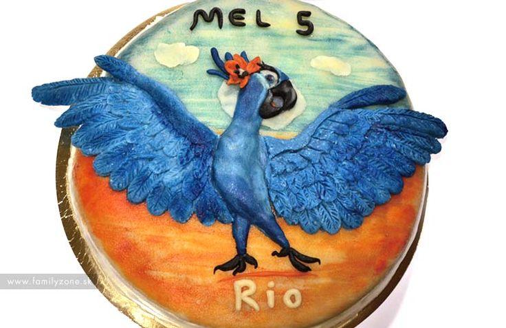 Narodeninová torta Rio 2 – postup   www.familyzone.sk