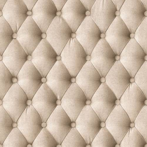 Beige 44861407 fabric headboard effect muriva for Padded wall wallpaper