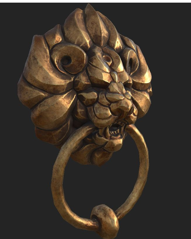 ArtStation - Lion doorknocker, Lillian Vinson