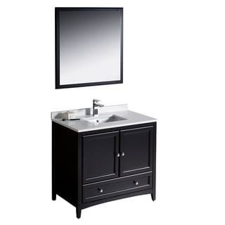 Marvelous Shop for Fresca Oxford inch Espresso Traditional Bathroom Vanity Get free delivery at