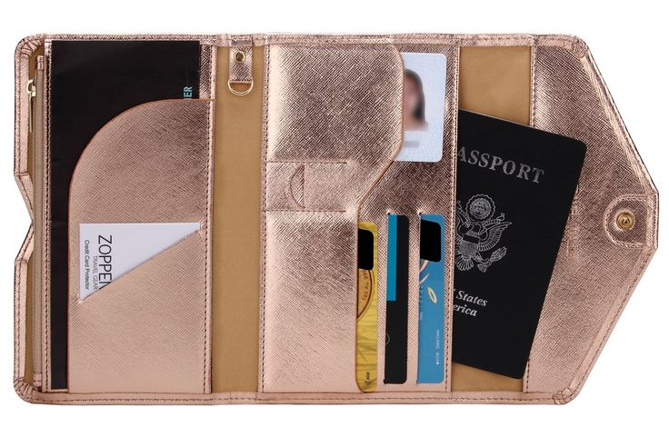 Amazon.com: Zoppen Mulit-purpose Rfid Blocking Travel Passport Wallet (Ver.4) Trifold Document Organizer Holder, Navy Blue: Clothing
