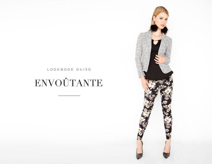 ENVOÛTANTE // SIMPLY MESMERIZING #blazer #jacket #tweed #blouse #floral #legging #pants #neutral #nature #grey #texture #mode #glam #fashion #femme #women #lookbook #fw16