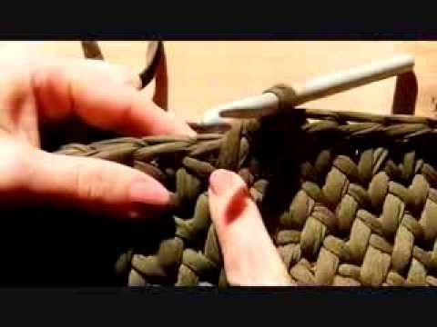 ¡¡ Punto Cesta a Trapillo !! ( Canestro ) TUTORIAL.... - YouTube