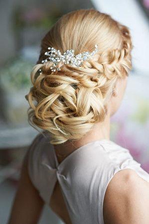 Fonott menyasszonyi frizura 2 , Bridal hair braids 2 www.elstile.ru
