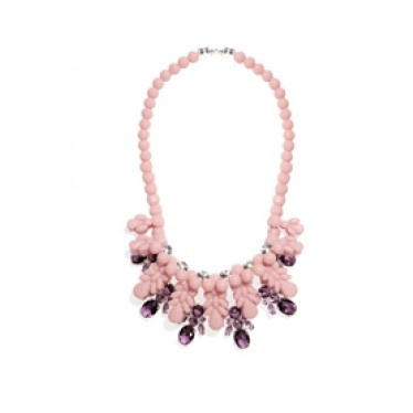 EK SN008 Necklace in Pale Mauve and Violet Glass