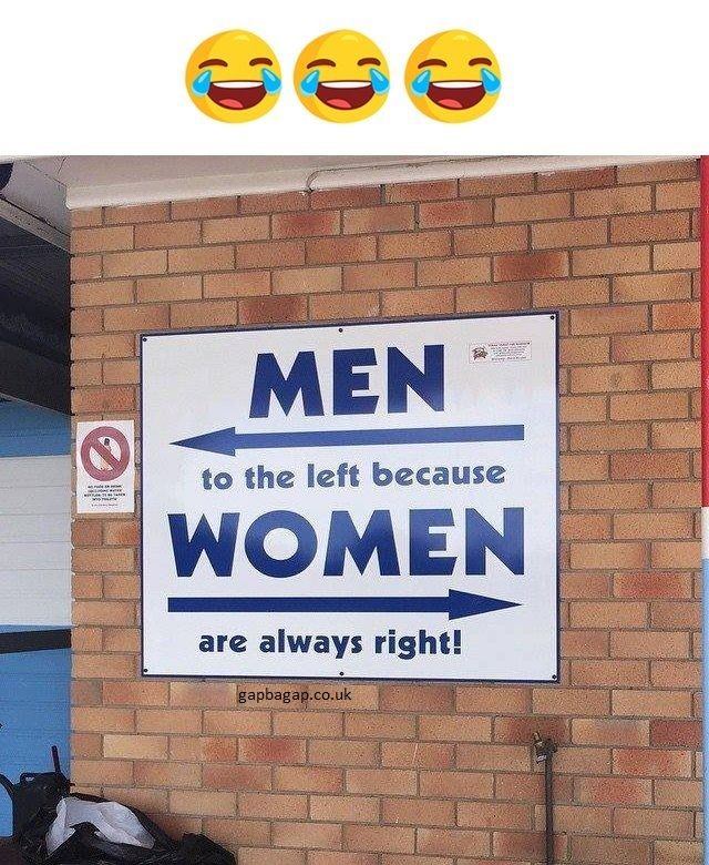 Funny Sign About Men vs. Women