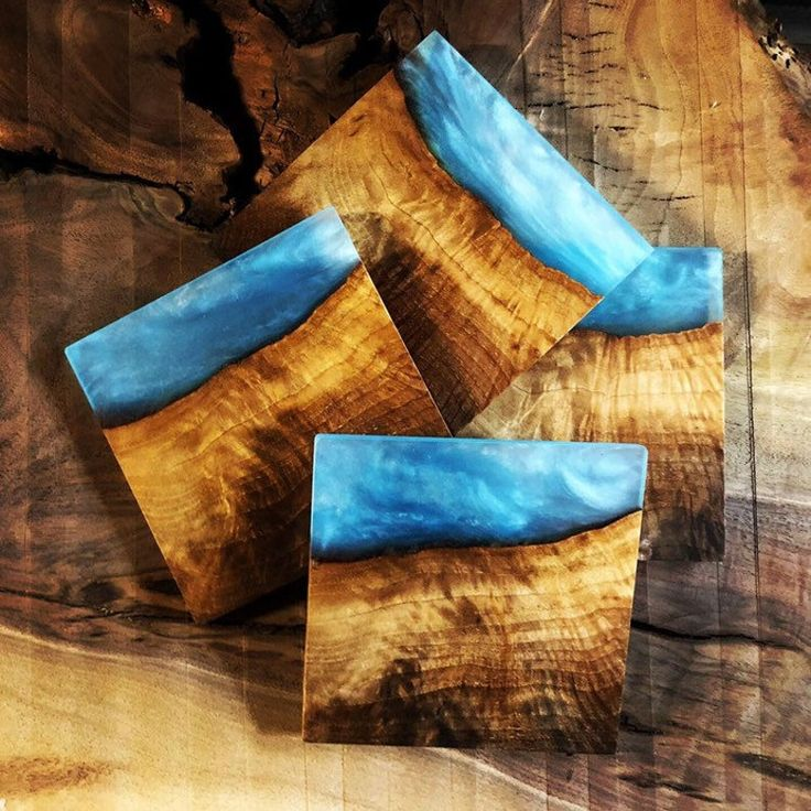 Handmade live edge and resin coaster sets in 2020 epoxy