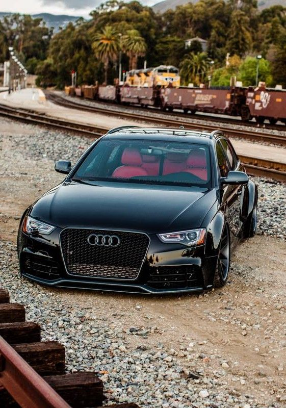 Audi RS4 #audi i wonder how they got it over there, and how they will get it out...
