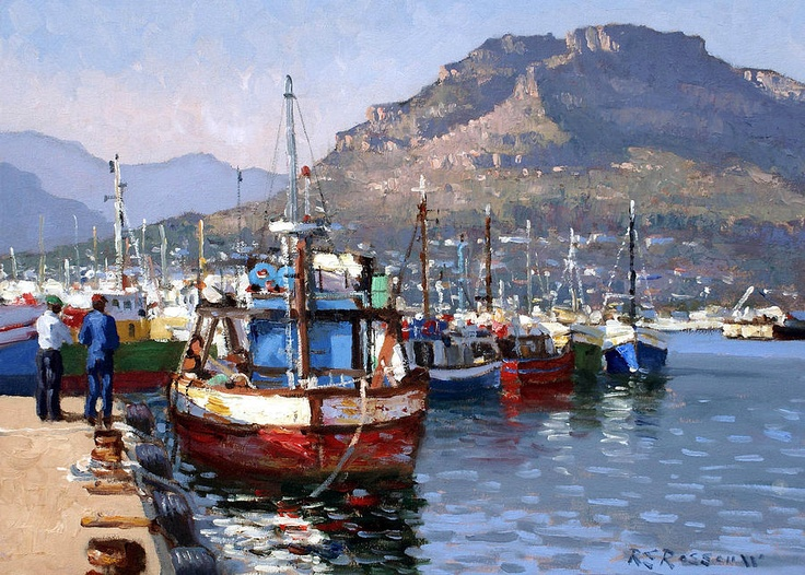 Red And Blue Trawler Painting  - Red And Blue Trawler Fine Art Print